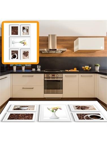 Halı Tahta Kahve Sunum Modern Mutfak Halıları 80X150Cm Renkli